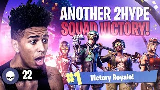 Download ANOTHER 2HYPE *CRAZY* SQUAD VICTORY ON FORTNITE! Fortnite Battle Royale Video