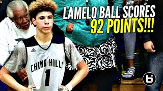 Download LaMelo Ball Scores 92 POINTS!!!! 41 In The 4th Quarter!! FULL Highlights! Chino Hills vs Los Osos!! Video