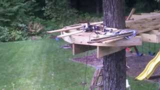 Download Rowan's (and his father's) Treehouse, phase 1. Video