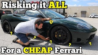 Download I Bought a TOTALED FERRARI at Salvage Auction with MYSTERY Undercarriage Damage SIGHT UNSEEN! Video