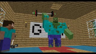 Download Monster School: Bodybuilding - Minecraft Animation Video