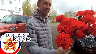 Download Russia: Provincial Flower Base & Local Cemetery in Moscow Region on Victory Day 2017 Video