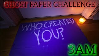Download THE SCARIEST GHOST PAPER CHALLENGE AT 3AM YET! (GONE WRONG) Video