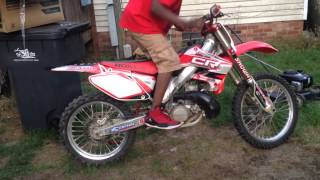 Download My first CR250 2stroke dirtbike Video