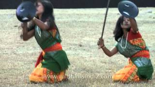 Download Indian Bodo women dance a warrior community dance Video