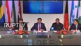 Download LIVE: OPEC ministerial meeting in Vienna - Final press conference Video