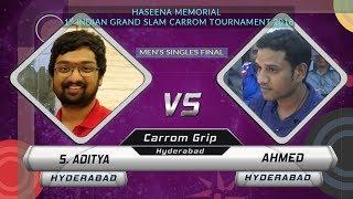 Download FINAL | SET 3 | S. ADITYA vs AHMED | HASEENA MEMORIAL 1ST INDIAN GRAND SLAM CARROM TOURNAMENT Video
