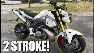 Download Crazy 2 Stroke Honda Grom! - World's Fastest Grom Built In 2 Weeks Video