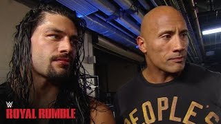 Download Roman Reigns celebrates with The Rock after winning the Royal Rumble Match - WWE Network Video