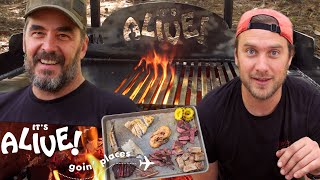 Download Brad Makes Surf & Turf on an Outdoor Grill (Part 2) | It's Alive Goin' Places | Bon Appétit Video