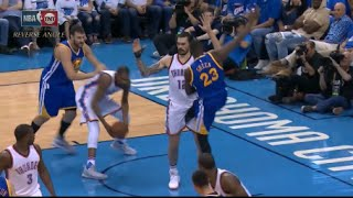 Download Draymond Green intentionally kicks Steven Adams between the legs - gets NOT ejected! Video