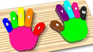 Download Learn Colors and Numbers Wooden Colorful Rainbow Hands and Fingers Kids Toys - Best Learning Video Video