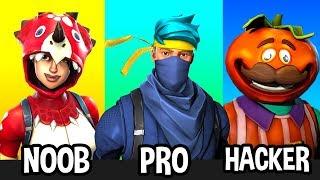 Download NOOB vs PRO vs HACKER in Fortnite Battle Royale (STEREOTYPES) Video