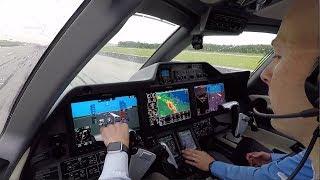 Download Phenom 300 Takeoff - Cockpit View Storms Around - Savannah GA Video