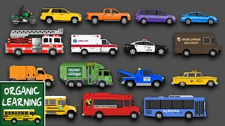 Download Learning Street Vehicles Names and Sounds for Kids - Learn Cars, Trucks, Fire Engines & More Video
