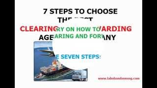 Download Clearing and Forwarding Agents: 7 Steps To Choose Right Agent Video