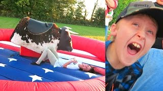 Download WE BROKE HIM!! INSANE BULL RIDING CHALLENGE!! Video