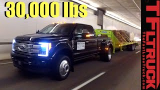 Download 2017 Ford Super Duty F-450 vs. Super Ike Gauntlet Towing Review: Midnight Edition Video