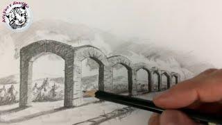 Download Perspectiva Con Un Punto de Fuga | Como Dibujar Arcos Realistas en Perspectiva a Lapiz Video