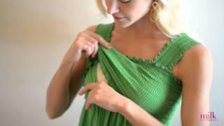 Download Sleeveless Babydoll Nursing Top by Milk Nursingwear - How it Works Video