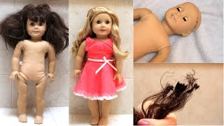Download Fixing an old AG doll (+BURNED HAIR FAIL!) Video