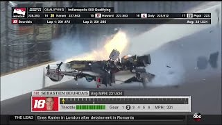 Download Sebastien Bourdais Huge Crash 2017 Indy500 Qualifying Video