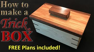 Download Woodworking: How to make an awesome trick box - FREE plans! Video
