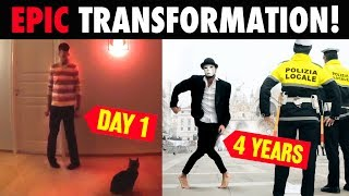 Download Guy uses YouTube to teach himself to dance - 4 YEARS OF TRANSFORMATION ( FAST EDITION) Video