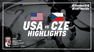 Download Game Highlights: United States vs Czech Republic May 17 2018 | #IIHFWorlds 2018 Video