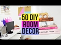 Download 50 DIY PARA DECORAR O SEU QUARTO - TUMBLR ROOM DECOR Video