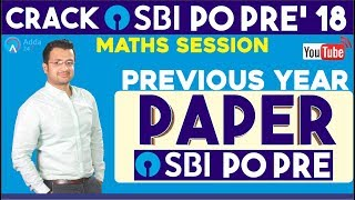 Download Previous Year Paper Of SBI PO PRE By Sumit Sir | Maths Video