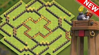 Download Clash Of Clans | BEST TH8 HYBRID BASE ″NEW UPDATE″ w/BOMB TOWER! | Town Hall 8 Farming / Trophy Base Video