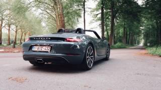 Download Porsche 718 Boxster Startup, revving and acceleration - Engine sound! Video