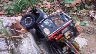 Download Axial SCX10 II Land Rover Short WATER TEST 1/10th Scale 4WD RTR Video