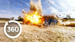Download Blowing Up a Postal Van | MythBusters (360 Video) Video