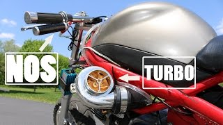 Download Pocket Bike With Electric TURBO And NOS Installed First Test Ride! Video