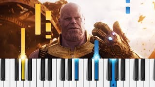 Download Marvel's Avengers: Infinity War - Official Trailer - EASY Piano Tutorial Video