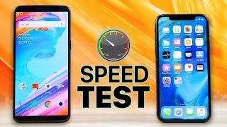 Download OnePlus 5T vs iPhone X SPEED Test! Video