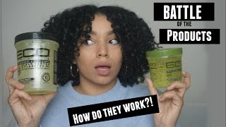 Download Eco Styler Olive Oil Gel vs Eco Styler Black Castor + Flaxseed Oil Gel | Battle of the Products Video
