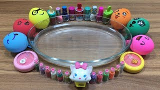 Download MIXING MAKEUP AND GLITTER INTO CLEAR SLIME!!! RELAXING SLIME WITH FUNNY BALLOONS Video