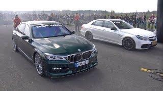 Download Mercedes-Benz E63 AMG vs Alpina BMW B7 BiTurbo Video