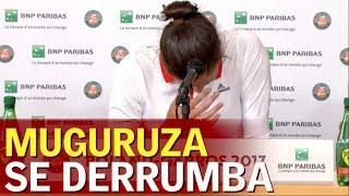 Download Roland Garros | Muguruza rompe a llorar tras ser eliminada | Diario AS Video