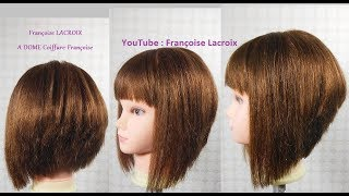Download Coupe carré plongeant dégradé, frange | Layered/A Line Bob haircut, bangs|Corte en capas Bob, franja Video