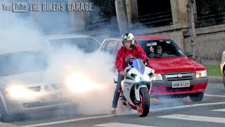 Download Yamaha R1 INSANE sound - Straight pipes, Burnouts and revs! Video
