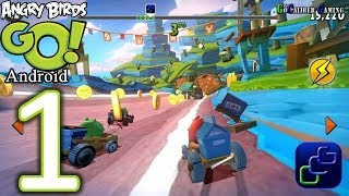 Download Angry Birds GO Android Walkthrough - Gameplay Part 1 - Seedway: Track 1 - RED Video