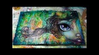 Download mixed media art journal page tutorial by Megan K Suarez 4-14-16 Video