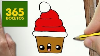 Download COMO DIBUJAR UN CUPCAKE PARA NAVIDAD PASO A PASO: Dibujos kawaii navideños - How to draw a cupcake Video