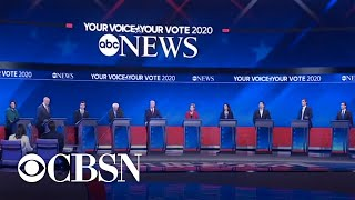 Download Democrats clash over moderate and progressive policies during debate Video