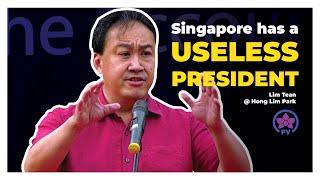Download Singapore has a Useless President: Lim Tean Live @ Hong Lim Park Video