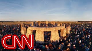 Download Celebrate the summer solstice at Stonehenge - 360 Video Video